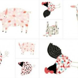 FARM ANIMALS PANEL (60CM) - MULTI