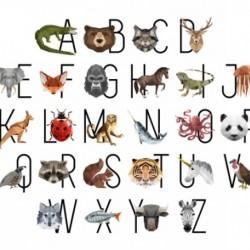 ALPHABET ANIMALS DIGITAL PANEL (94CM)