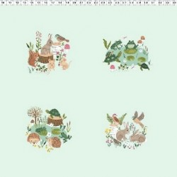 WOODLAND SCENE PANEL (60CM) - MINT
