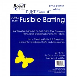 "Bosal Double Sided Fusible Batting 45""x36"""