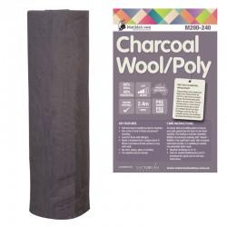 Matilda's Batting- Charcoal- 60/40-Wool/Poly