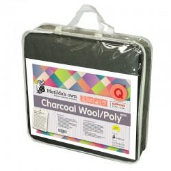 Matilda's Batting Precut -Charcoal 60/40 Wool/Poly