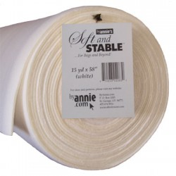 Soft & Stable Batting White - 100% Polyester