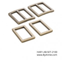 "Hardware Set-2100 A/Brass-1"" (2xRR+2xSL)"