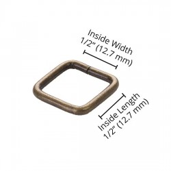 """Rectangle Ring (0.5"""") - A/BRASS"""