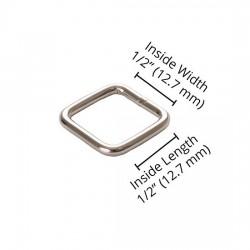 """Rectangle Ring (0.5"""") - NICKEL"""