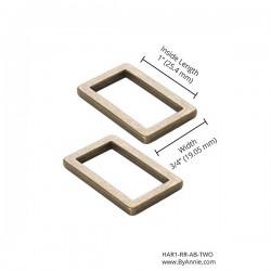 "Rectangle Ring Flat (1"") 2pk - A/BRASS"