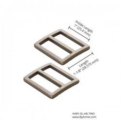 """Slider Flat (1"""") 2pk - A/BRASS"""
