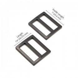 """Slider Flat (1"""") 2pk - BLACK/METAL"""