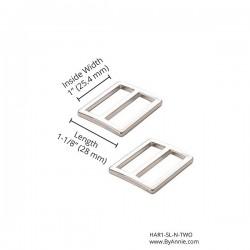 "Slider Flat (1"") 2pk - NICKEL"