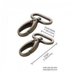 """Swivel Hook (1"""") 2pk - A/BRASS"""