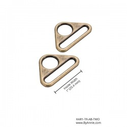 "Triangle Ring (1"") 2pk - A/BRASS"