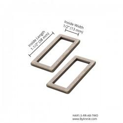 "Rectangle Ring Flat (1.5"") 2pk - A/BRASS"