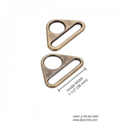 "Triangle Ring (1.5"") 2pk - A/BRASS"