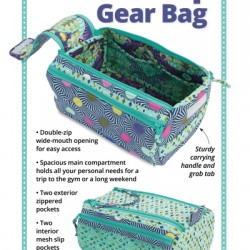 DOUBLE ZIP GEAR BAGS-Pattern