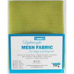 "Mesh Fabric (18""x54"") - APPLE GREEN"