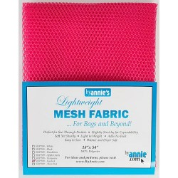 "Mesh Fabric (18""x54"") - LIPSTICK"