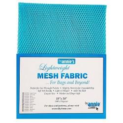 "Mesh Fabric (18""x54"") - PARROT BLUE"