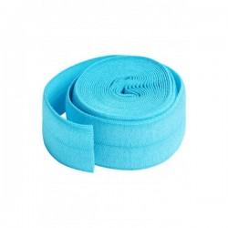 Foldover Elastic (20mmx2yd) - PARROT BLUE