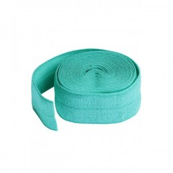 Foldover Elastic (20mmx2yd) - TURQUOISE