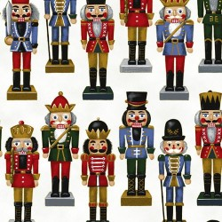 NUTCRACKERS - SNOW/GOLD