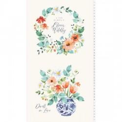 Panel - Bloom Wildly 60cm - LIGHT CREAM
