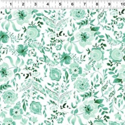 Watercolour Floral - LIGHT TEAL