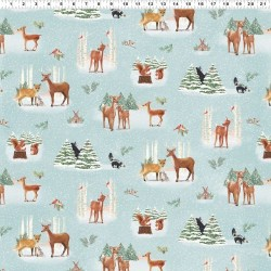 Forest Toile - LT TEAL