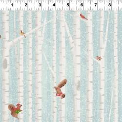 Birch Tree Stripe - LT TEAL