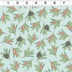 Pine Branches - LT TURQUOISE