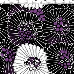 Purple Reign Floral - BLACK