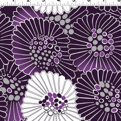 Purple Reign Floral - DARK EGGPLANT