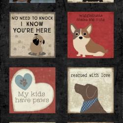 Panel - A Dog's Life Digital 60cm - BLACK