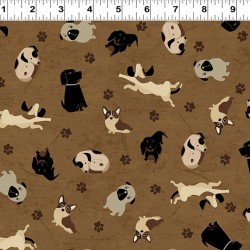 Tossed Dogs - LIGHT BROWN