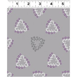 Triangle Wreaths - LIGHT PEWTER