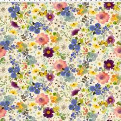 Digital Floral Fancy - LIGHT CREAM