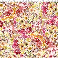 Digital Berry Floral - RASPBERRY