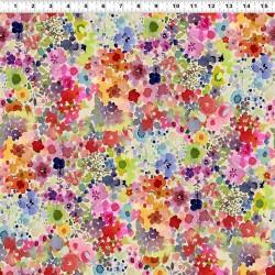 Digital Blooms - LIGHT CREAM
