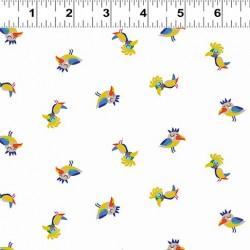 Sleepy Time Birds - WHITE