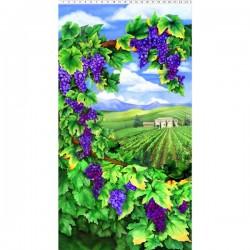 Panel - Digital Vineyard Scene 60cm - MULTI