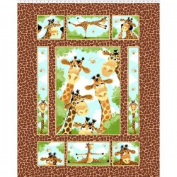 Panel - Zoe the Giraffe 90cm - MULTI