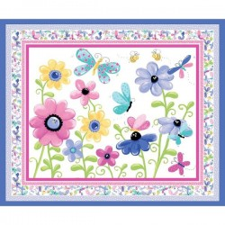 Panel - Butterfly Play Mat 90cm - WHITE
