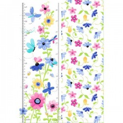 Panel - Butterfly Growth Chart 80cm - WHITE
