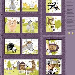 Book Panel - Barnyard Storybook 90cm - MULTI