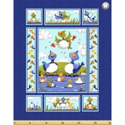 Panel - Bill and Bob Quilt 90cm - MULTI