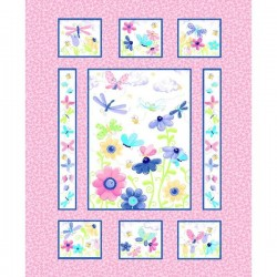 Panel - Flutter the Butterfly 90cm - PINK