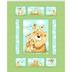 Panel - Lyon the Lion Quilt Panel 90cm - MULTI