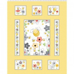 Panel - Sweet Bees 90cm - YELLOW