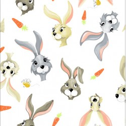 Hares & Carrots - WHITE