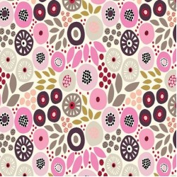 SMALL FLORAL - CREAM/PINK